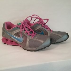 Nike Reax Pink & Gray running shoes womens 6